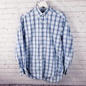 Vineyard Vines Blue Plaid Button Down Whale Shirt